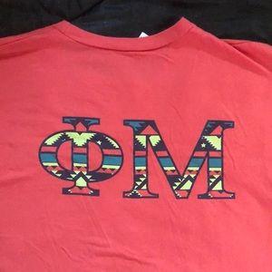 Phi Mu V Neck T-shirt